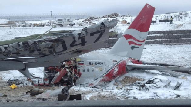 Imágenes tras accidente aéreo en Rusia (Twitter.com/ Madina Kochenova)