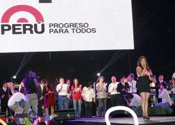 """Corazón Serrano cerró con broche de oro """"fiesta del pueblo"""" (Foto: Presidencia)"""