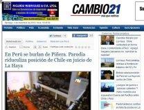Publicación del diario chileno http://ww.cambio21.cl/