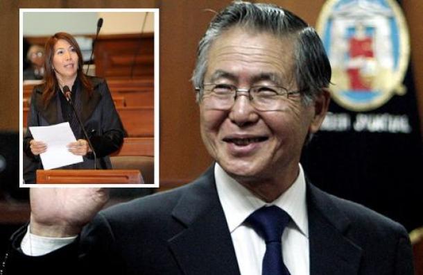 Alberto Fujimori y congresista María Cordero