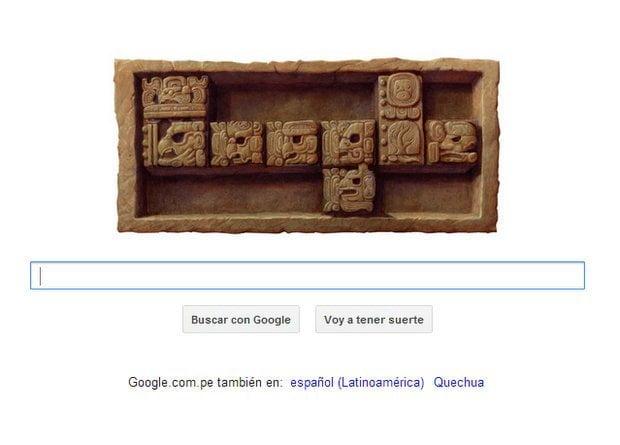 Doodle de Google sobre el fin del 13er Baktún de los Mayas
