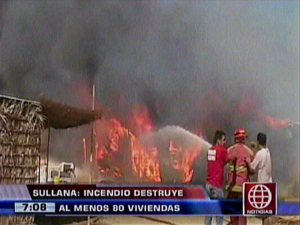 Incendio en Piura (Captura América TV)