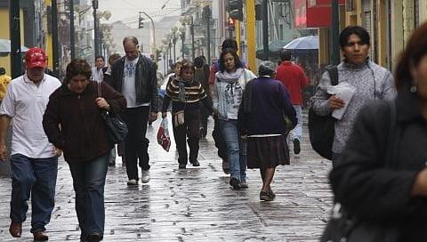 Lloviznas en Lima (Foto: El Comercio)