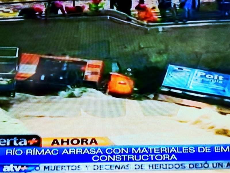 Maquinaria de Vía Parque Rímac en riesgo (ATV +)