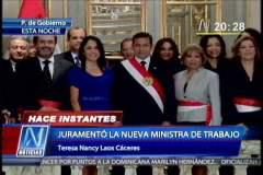 Nancy Laos, junto a Ollanta Humala y la Primera Dama Nadine Heredia