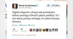 La queja de Randi Zuckerberg en Twitter