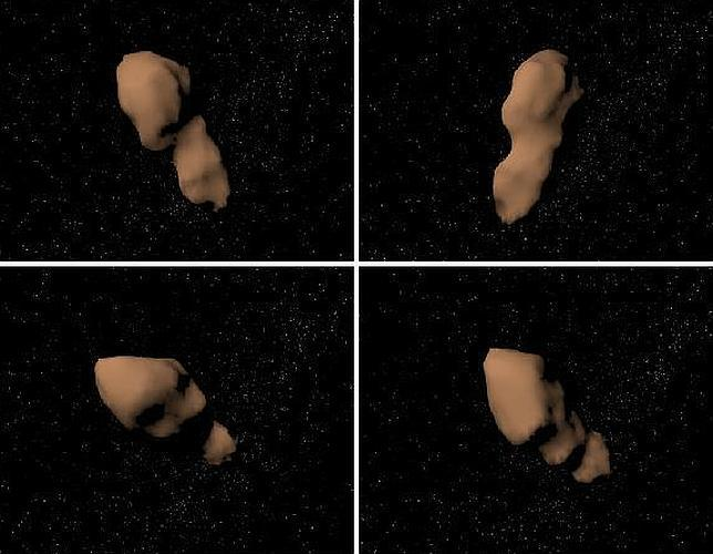 El asteroide Tutatis