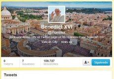 Twitter de Benedicto XVI / @pontifex