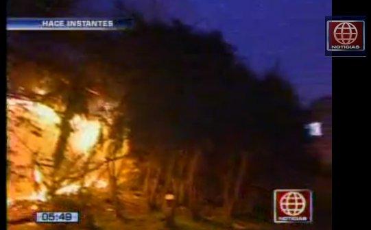 Incendio en Puente Santa Rosa (Foto: Captura América Noticias)