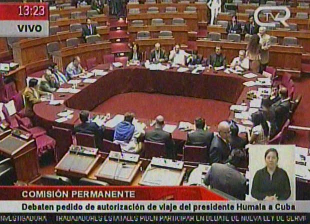 Comisión Permanente dio luz verde al viaje de Ollanta Humala