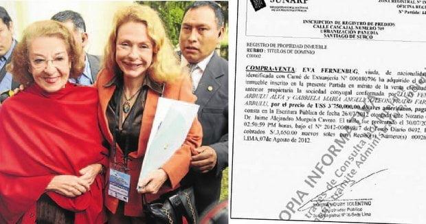 Suegra de Alejandro Toledo no declaró ingresos de dinero entre el 2005 y 2012