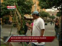 Matones arremetieron contra ofrenda floral dejada por revocadores (TV Perú)