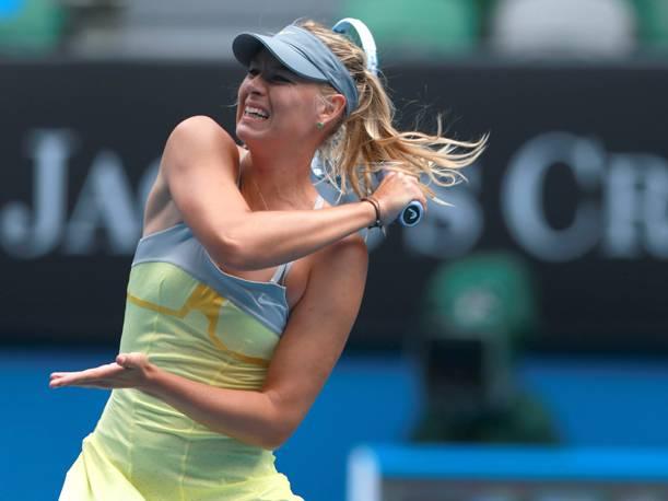 Sharapova  debutó con un triunfo contundente en el Abierto de Australia.
