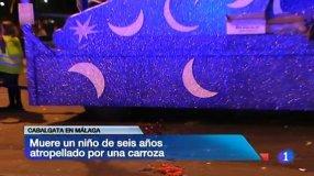 El menor, de seis años, ha sido atropellado cuando iba a coger caramelos (Foto y video RTVE)