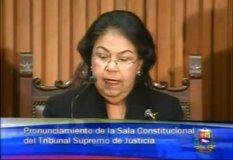 La presidenta del Tribunal Supremo de Justicia, Luisa Estella Morales