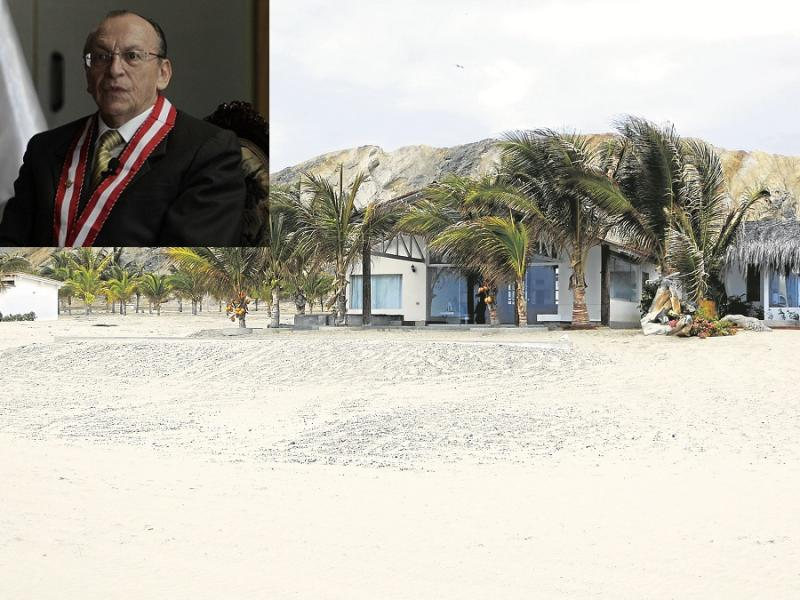 Casa de playa de Alejandro Toledo en la mira del fiscal José Peláez (Diario Correo)