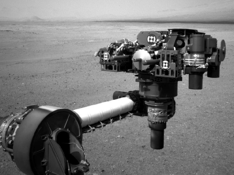 El brazo mecánico del Curiosity (Foto Nasa)