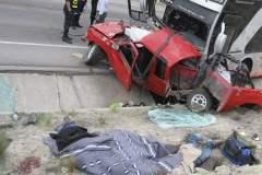 Chancay: Un fallecido y dos heridos por choque de bus con auto