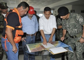 Ollanta Humala llegó a zona de Codo de Pozuzo (Presidencia)