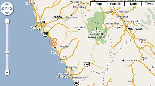 Sismo en Chilca