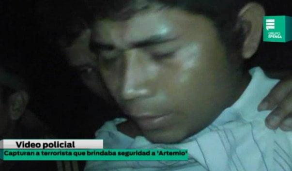 "Captura de Cuarto Chujandama Pinedo (25), alias ""Jaime"""