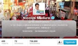 Cuenta Twitter de Nicolás Maduro fue hackeada por peruanos