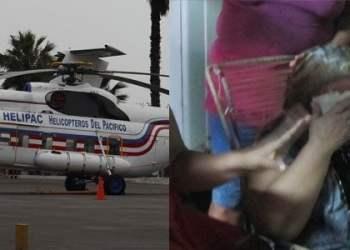 Helicóptero explotó en el aire con 13 ocupantes según testigos