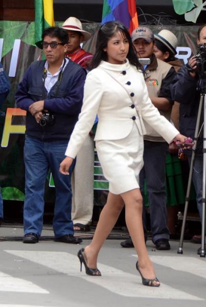 Conoce a Eva Liz, la guapa hija de Evo Morales