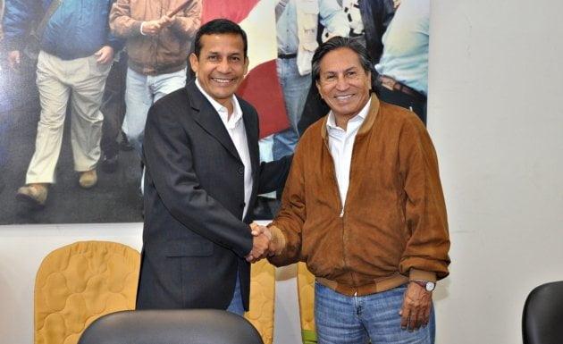 Ollanta Humala y Alejandro Toledo en buenos tiempos (Foto: La Mula)
