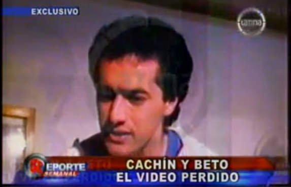 Cachín y Beto Ortiz en cortometraje inédito, hace 29 años (Video)