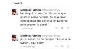 Se borra cuenta Twitter de Mariella Patriau tras críticas a hija de Humala