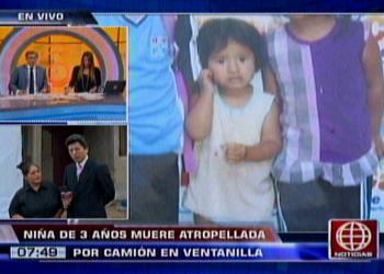 Niña de 3 años muere atropellada en Ventanilla