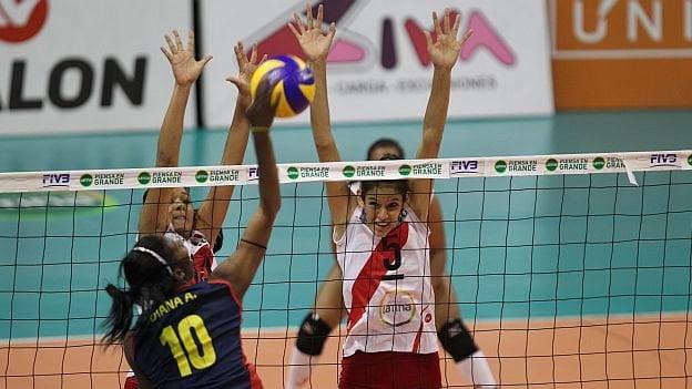 El sexteto juvenil peruano se impuso a Colombia en un partido muy disputado.