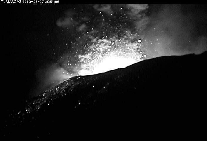 Alerta en México: Volcán Popocatépetl registra explosiones y arroja lava