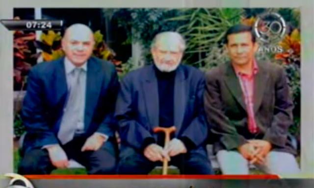 Ollanta Humala junto a Rómulo León y Armando Villanueva en polémica foto
