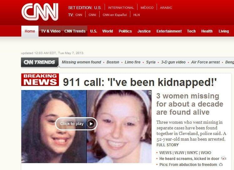 Diez años después encuentran a tres jóvenes secuestradas en EE.UU.