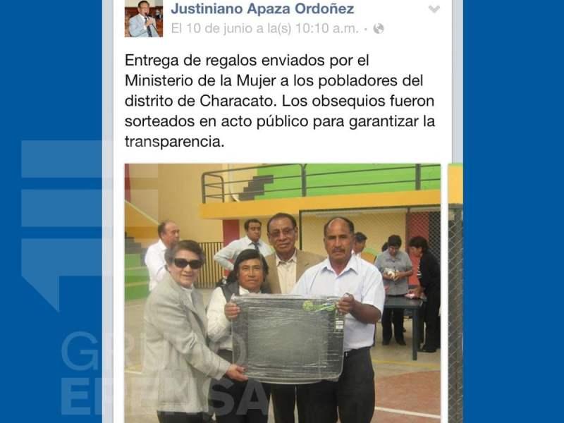Sortean donaciones del Ministerio de la Mujer y congresista entregó premios