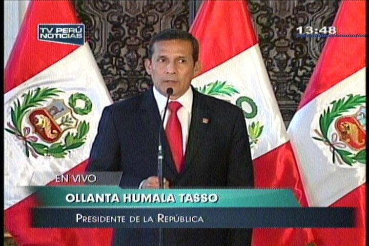 """Humala: """"Si salud de Fujimori cambia, puede pedir de nuevo el indulto"""""""