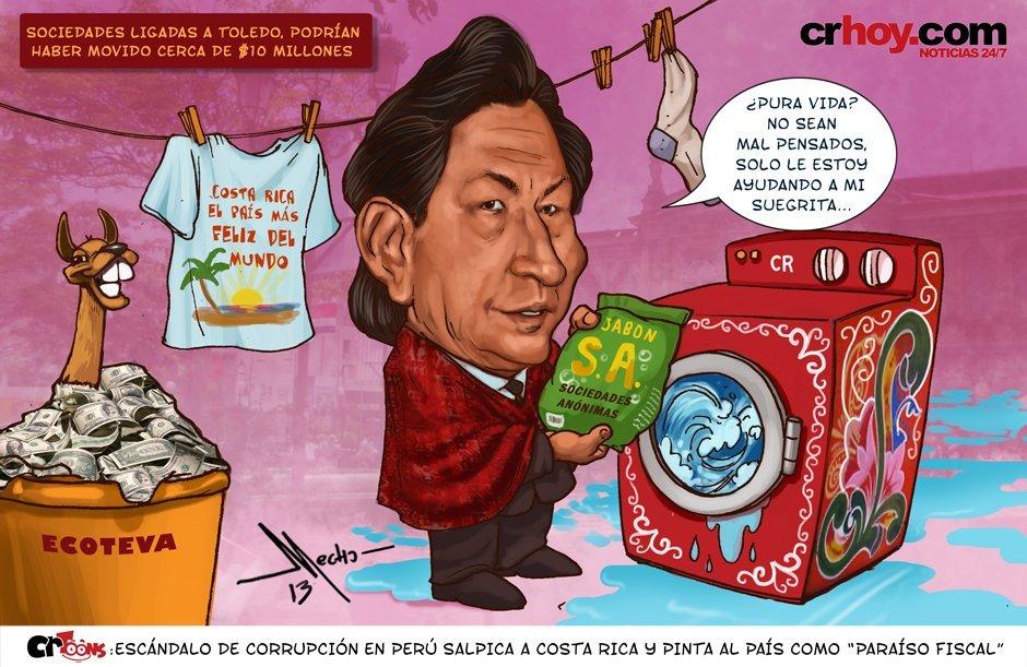 Alejandro Toledo sale en caricatura con