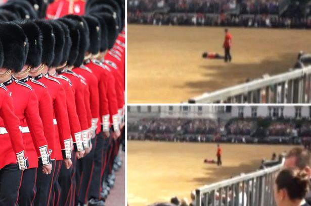 Soldado se desmaya frente a Kate Middleton en desfile oficial (Fotos y video The Mirror)