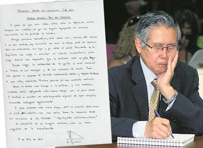 """Alberto Fujimori: """"Vivo etapa post NO INDULTO y escribiré autobiografía"""""""