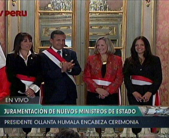 Ollanta Humala juramenta a nuevas ministras de Cultura, Mincetur y Midis