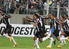 Atlético Mineiro de Brasil celebra su pase a la final de la Copa Libertadores.