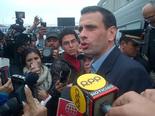 Henrique Capriles en Lima (RPP TV)