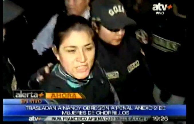 (ATV +) Nancy Obregón es internada en el penal de Mujeres de Chorrillos