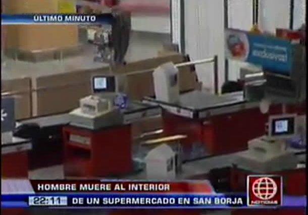 Hombre fallece en supermercado y denuncian que no recibió ayuda