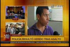 Policía Nacional abandona a suboficial baleado que frustró asalto en El Agustino