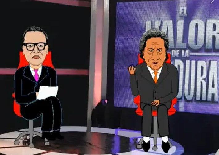 """Alejandro Toledo en """"El Valor de la Verdad"""" gracias a parodia animada"""