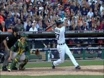 Jonrón de Peralta en el quinto inning para provocar tres carreras a favor de los Tigres.