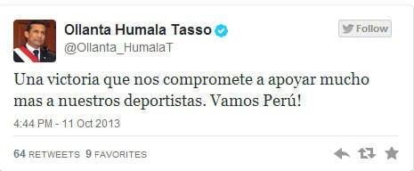 """Humala """"apoyará"""" más al deporte ahora que Perú es sede de Panamericanos"""